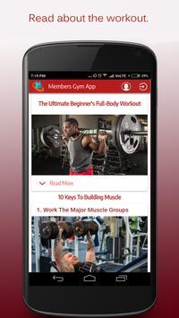 Gym Member's App apk screenshot