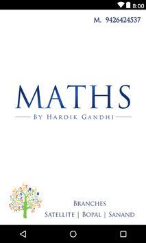 Maths by Hardik Gandhi poster