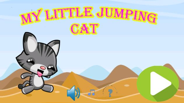 My little jumping cat poster