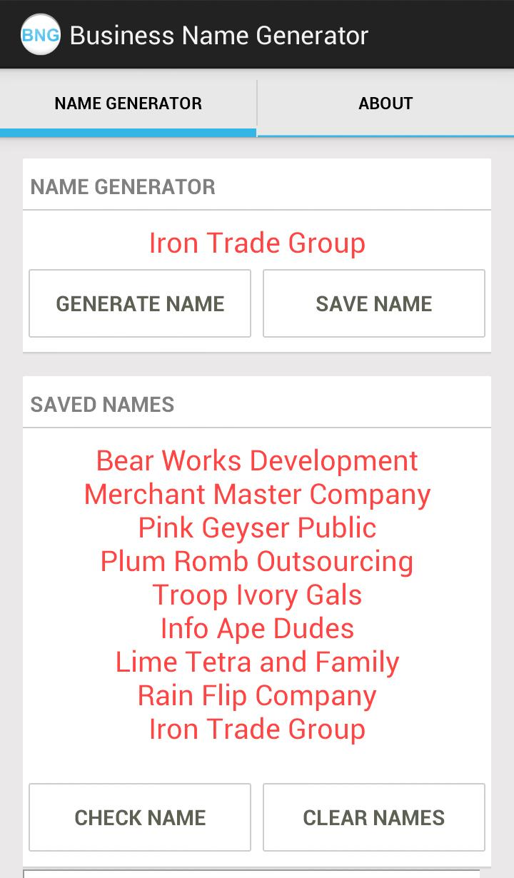 Business Name Generator for Android - APK Download