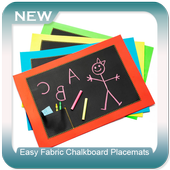 Easy Fabric Chalkboard Placemats icon
