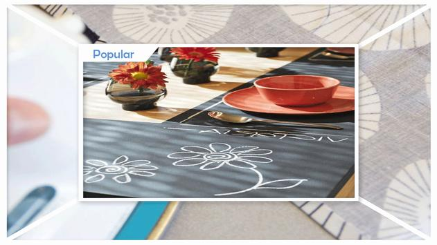 Easy Fabric Chalkboard Placemats screenshot 1