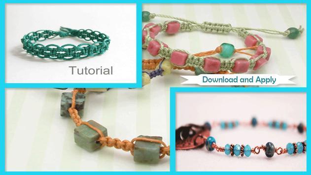 guide to make bracelets poster