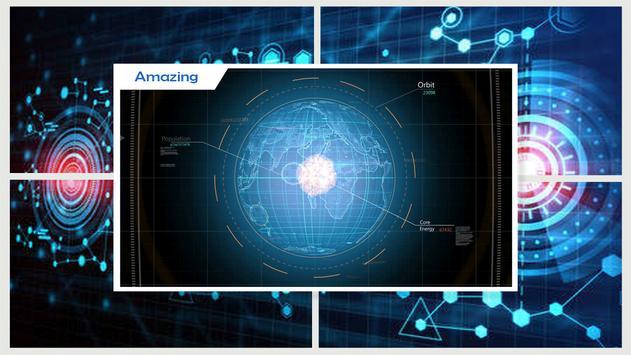 Hologram Tech Globe wallpaper screenshot 2
