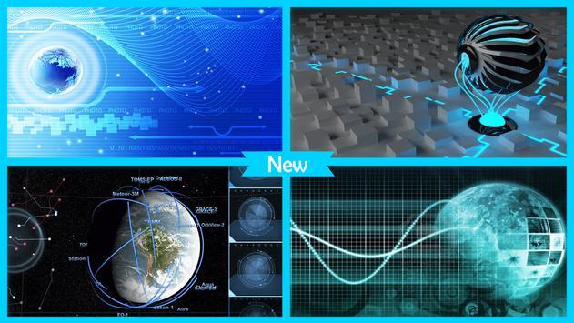 Hologram Tech Globe wallpaper screenshot 3
