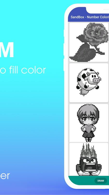 Sandbox Color by Number Coloring