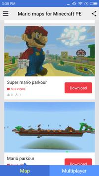 Mario maps for Minecraft PE poster