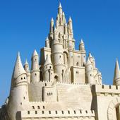 sand castle ideas icon