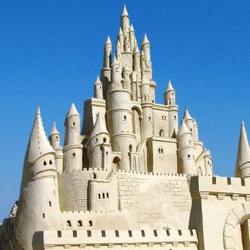 sand castle ideas poster
