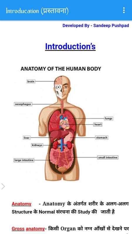 Anatomy In Hindi APK Download - Free Education APP for Android ...
