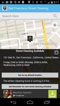 San Francisco Street Cleaning screenshot 1
