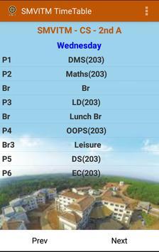 SMVITM Timetable screenshot 2