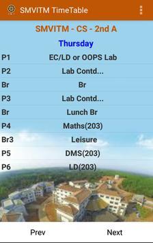 SMVITM Timetable screenshot 3