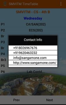 SMVITM Timetable screenshot 5