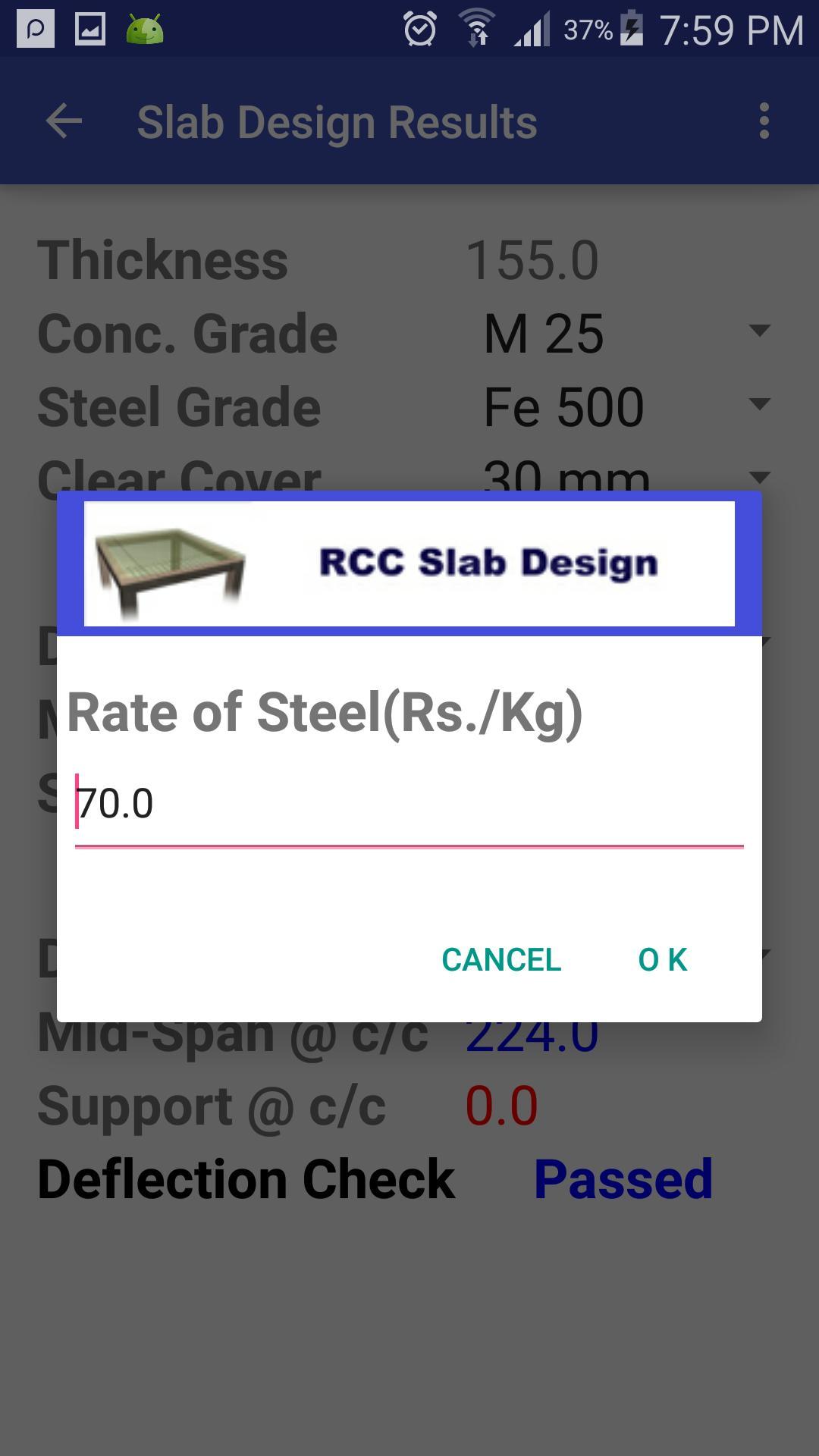RCC Slab Design for Android - APK Download