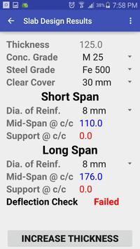 RCC Slab Design apk screenshot