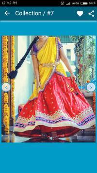 Lehenga and Half Saree Designs screenshot 5