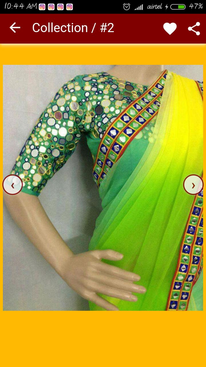 Mirror Work Blouse Designs For Android Apk Download