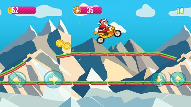 Motobike game : Santa claus screenshot 1