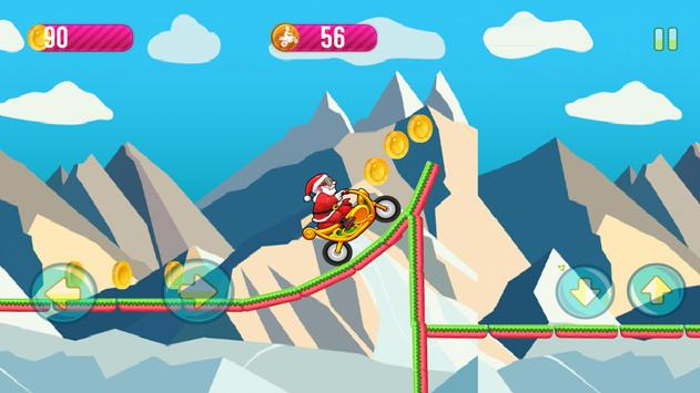 Motobike game : Santa claus screenshot 3