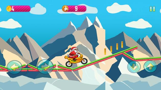Motobike game : Santa claus screenshot 4