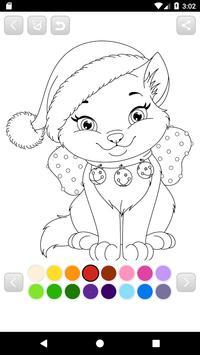 Santa coloring game for kids - Xmas 2018 screenshot 1