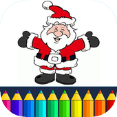 Coloring Santa Claus - Christmas game for kids icon