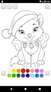 Coloring Santa Claus - Christmas game for kids poster