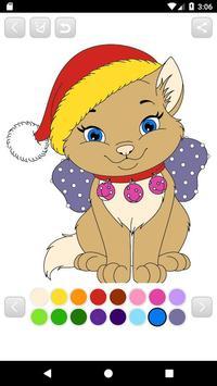 Coloring Santa Claus - Christmas game for kids apk screenshot