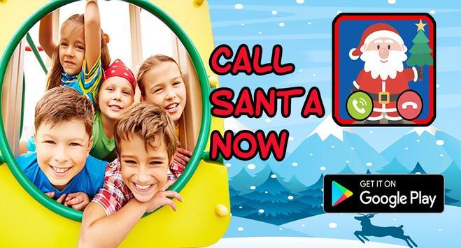 Santa Claus Fake Call  prank FREE poster