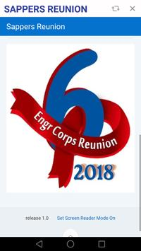 Sappers Reunion poster