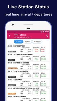 भारतीय रेल ट्रेन स्थिति apk स्क्रीनशॉट