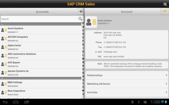 SAP CRM Sales poster