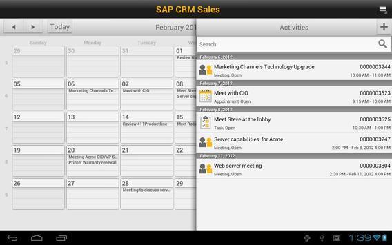 SAP CRM Sales screenshot 1
