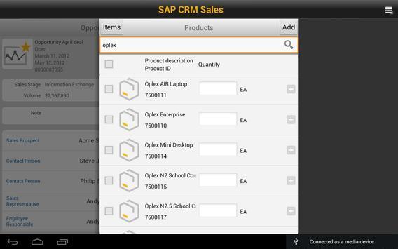 SAP CRM Sales screenshot 4