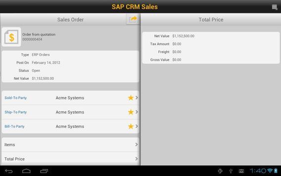 SAP CRM Sales screenshot 5