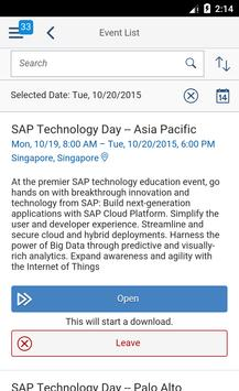 SAP Events poster