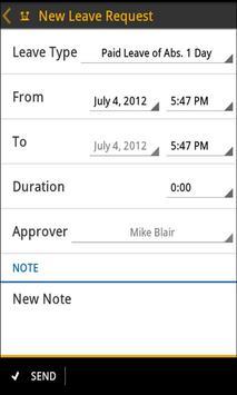 SAP Leave Request screenshot 1