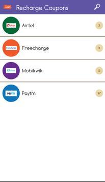 Recharge Coupons Free India screenshot 1