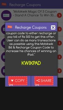 Recharge Coupons Free India captura de pantalla 2