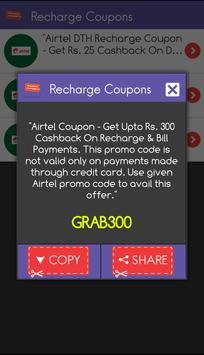 Recharge Coupons Free India captura de pantalla 3