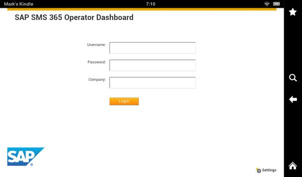 SAP SMS 365 Operator Dashboard poster