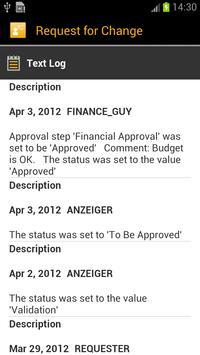 SAP IT Change Approval screenshot 2