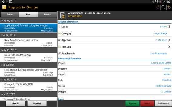 SAP IT Change Approval screenshot 5