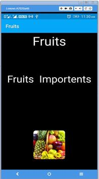 Fruits benefit poster