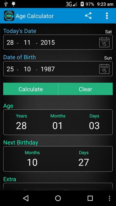 Age calculator apk baixar gr tis ferramentas aplicativo for Easy app design