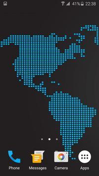 Black Map Live Wallpaper apk screenshot