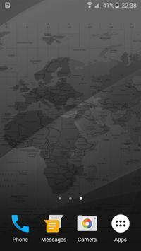 Black Map Live Wallpaper screenshot 2
