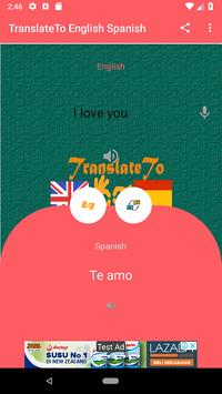 TranslateTo English Spanish screenshot 1