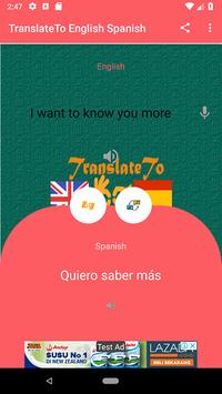 TranslateTo English Spanish screenshot 3